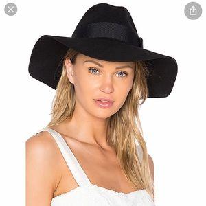 Brixton BLACK piper floppy wool hat-small